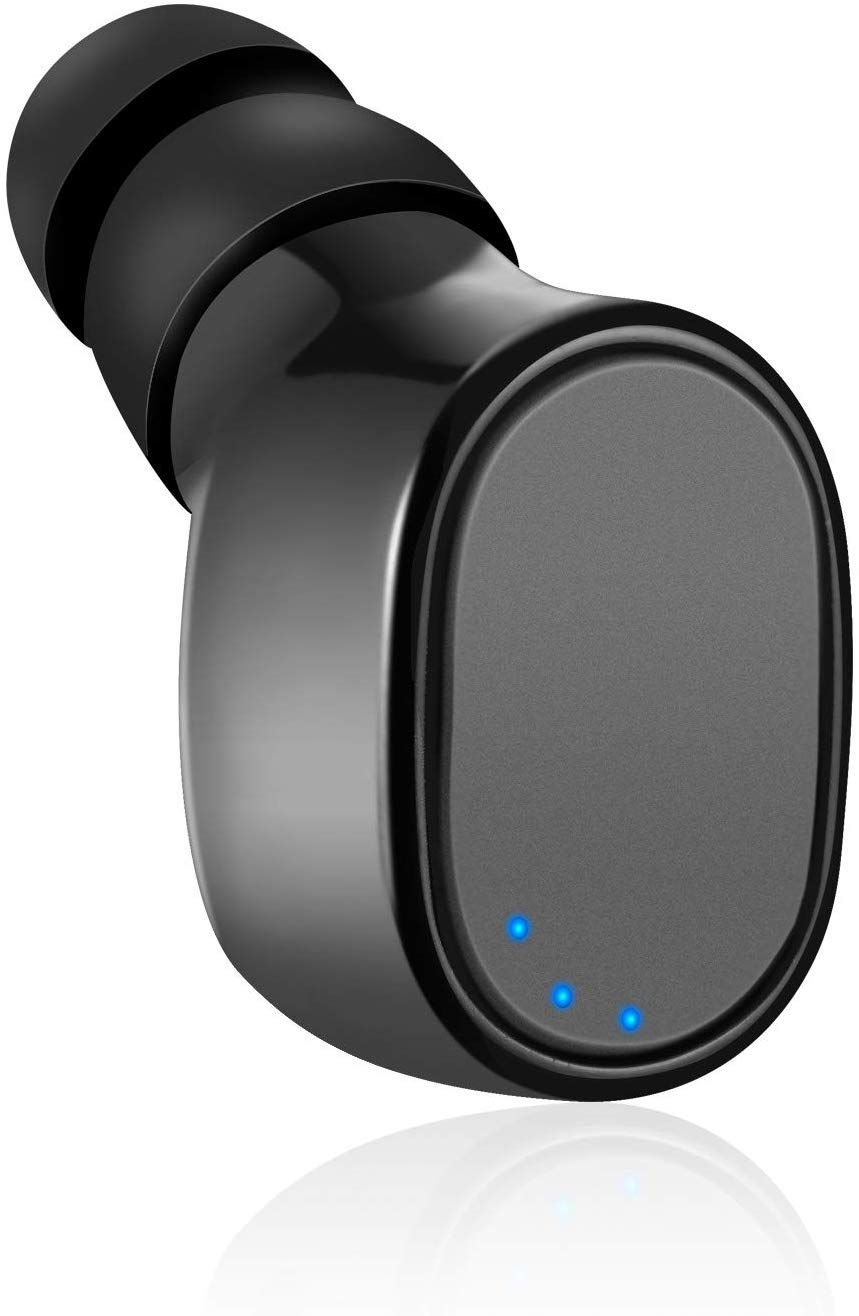 Single Mini Bluetooth Arbudinvisible Wireless Earpiecesport Headphone With Michours Playtimeusb Char Amazo In 2020 Bluetooth Headset Bluetooth Device Wireless Headset