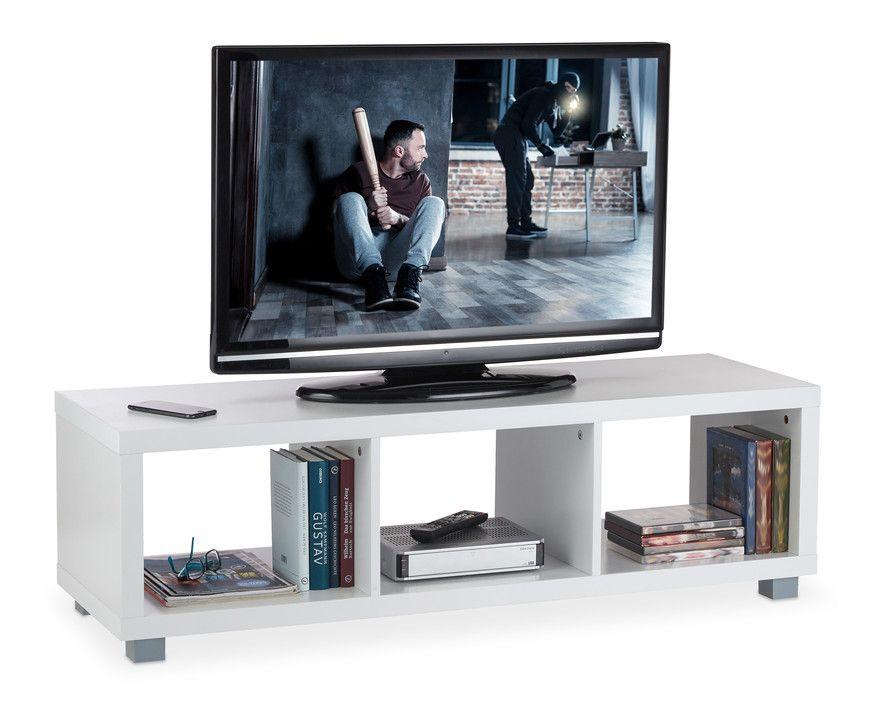Meuble Tv Trois Compartiments Rangement Multimedia Commode