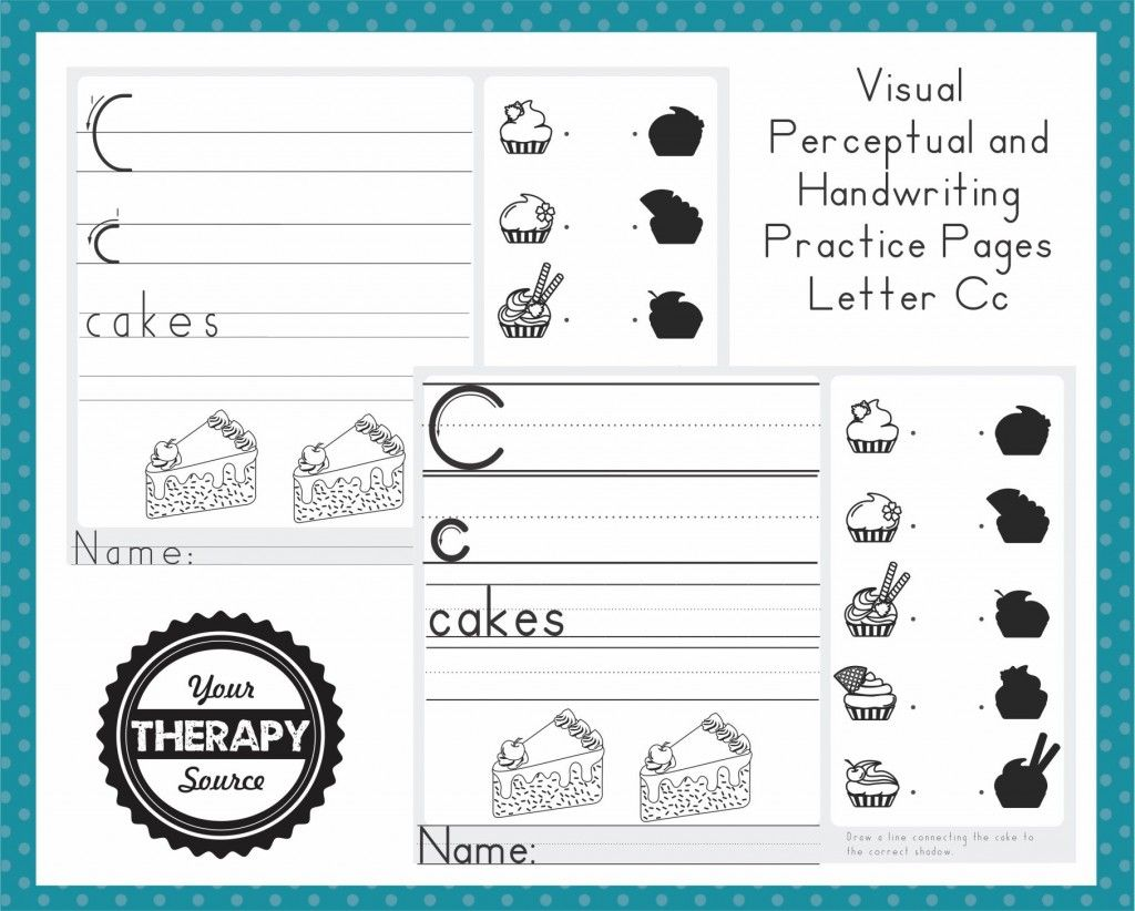 Visual Perceptual And Handwriting Freebie Page