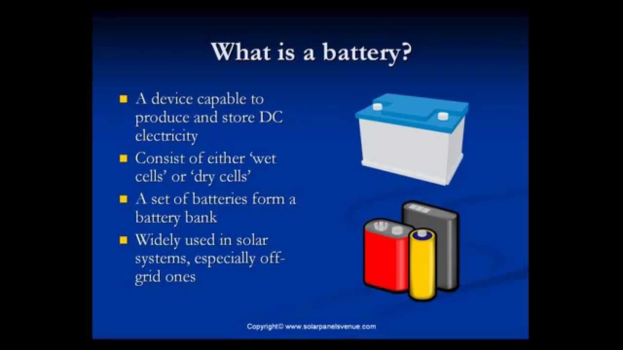 Solar Battery Backup Solar Batteries And Solar Battery Bank In Solar Power Systems Watch This Video Solar Battery Bank Solar Energy System Solar Power System