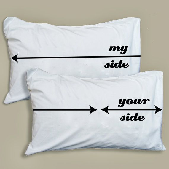 Couples Funny Pillowcase My Side/Your Side Pillow Case Set Christmas