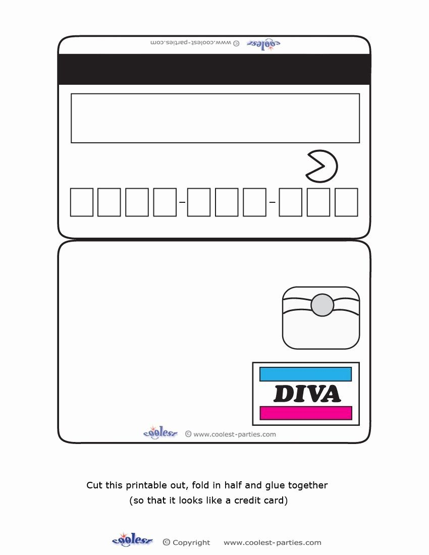 blank credit card template new blank printable diva credit