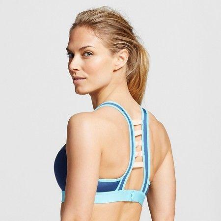 6c53cab636 C9 Champion® Women s Power Shape Strappy-Back Sports Bra - Sea Bottom Blue  S   Target
