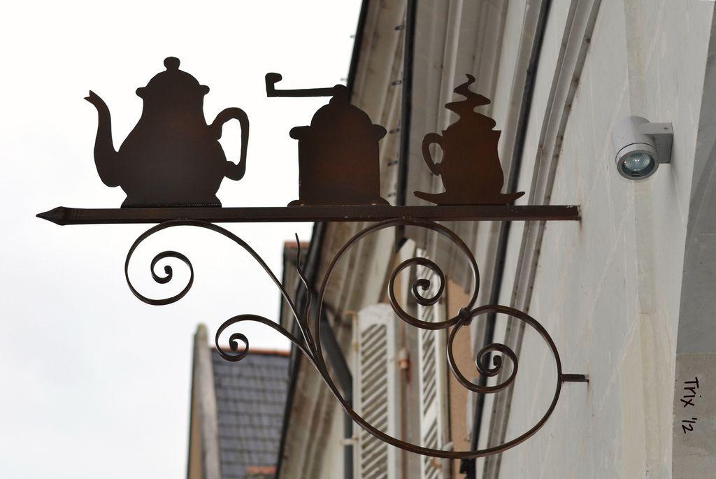 Salon De Thé Shop Signs Storefront Signs Hanging Signs