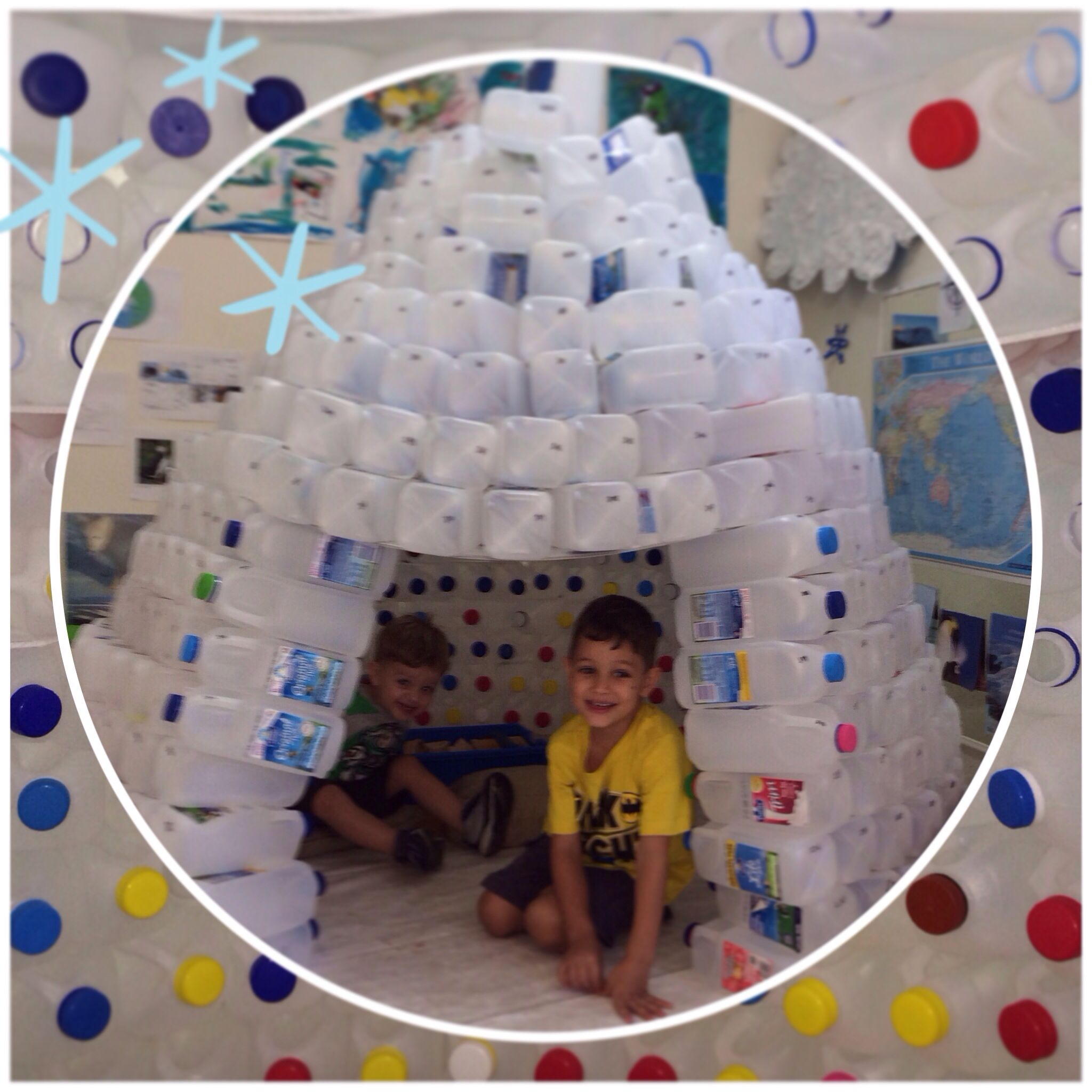 506 Plastic Milk Bottles Later And Tada You Have An Igloo