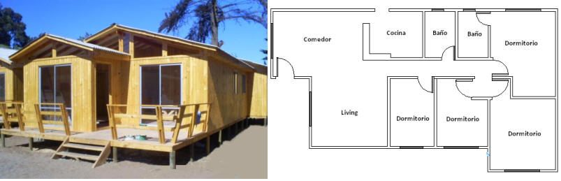 Casas prefabricadas chile buscar con google planos for Buscar casas prefabricadas