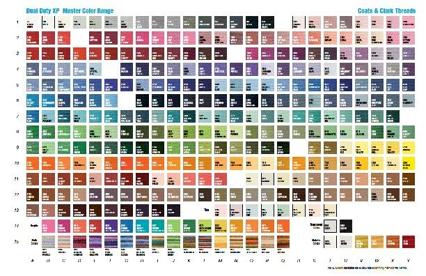 Coats and clark thread color chart sewing goodies sewing