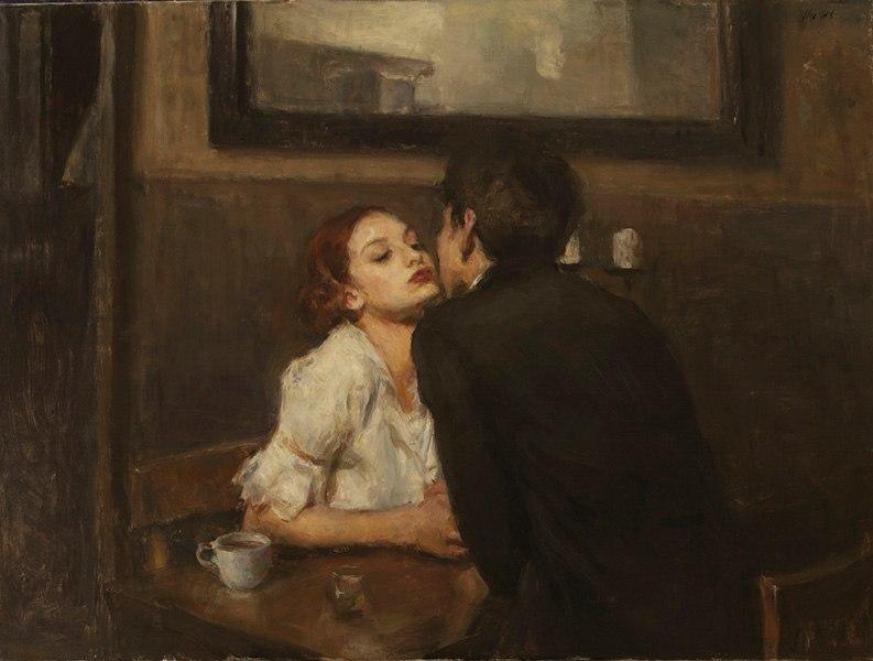 Cafe Kiss By Ron Hicks Classic Art Ron Hicks Romantic Art
