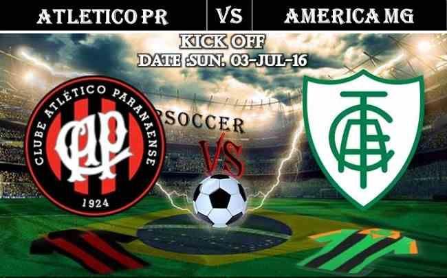Atletico PR vs America MG 03.07.2016 Free Soccer Predictions, head to head, preview, predictions score, predictions under/over Brazil: SERIE A