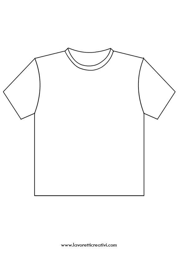 Sagoma Maglietta Di Tutto Sagome Disegni Vestito E