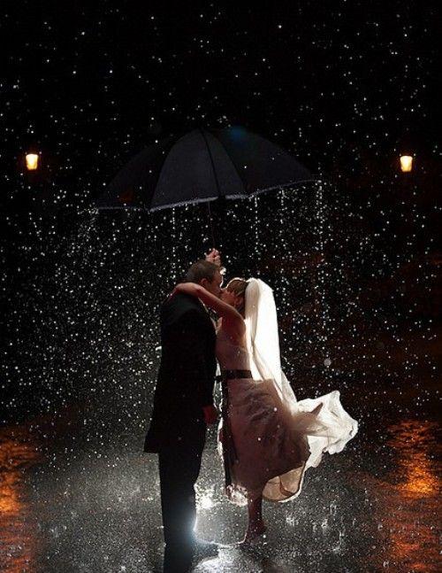 casando na chuva