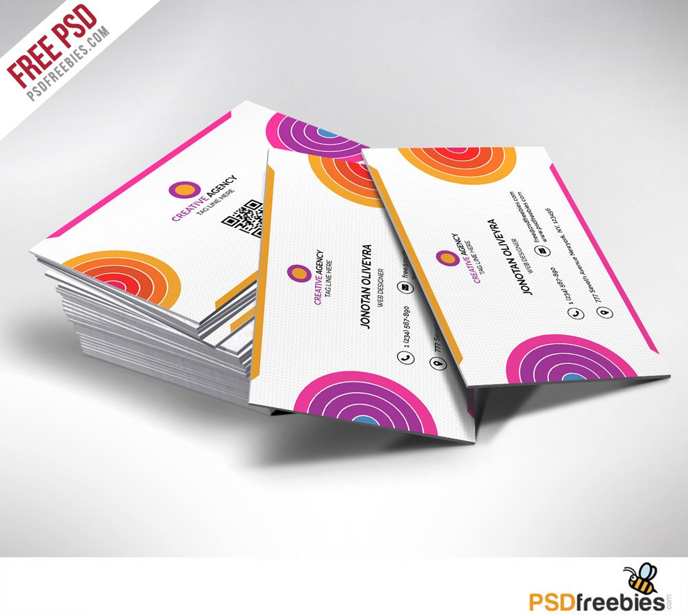 Creative And Colorful Business Card Free Psd Psdfreebies Com Colorful Business Card Free Business Card Templates Business Cards Creative