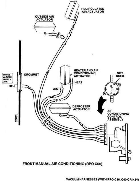 10  73 87 Chevy Truck Air Conditioning Diagram