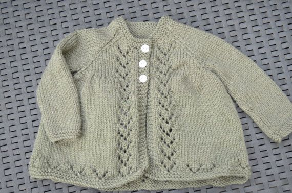 Merino Matinee Jacket Baby Cardigan Made To by BobtailsBoutique