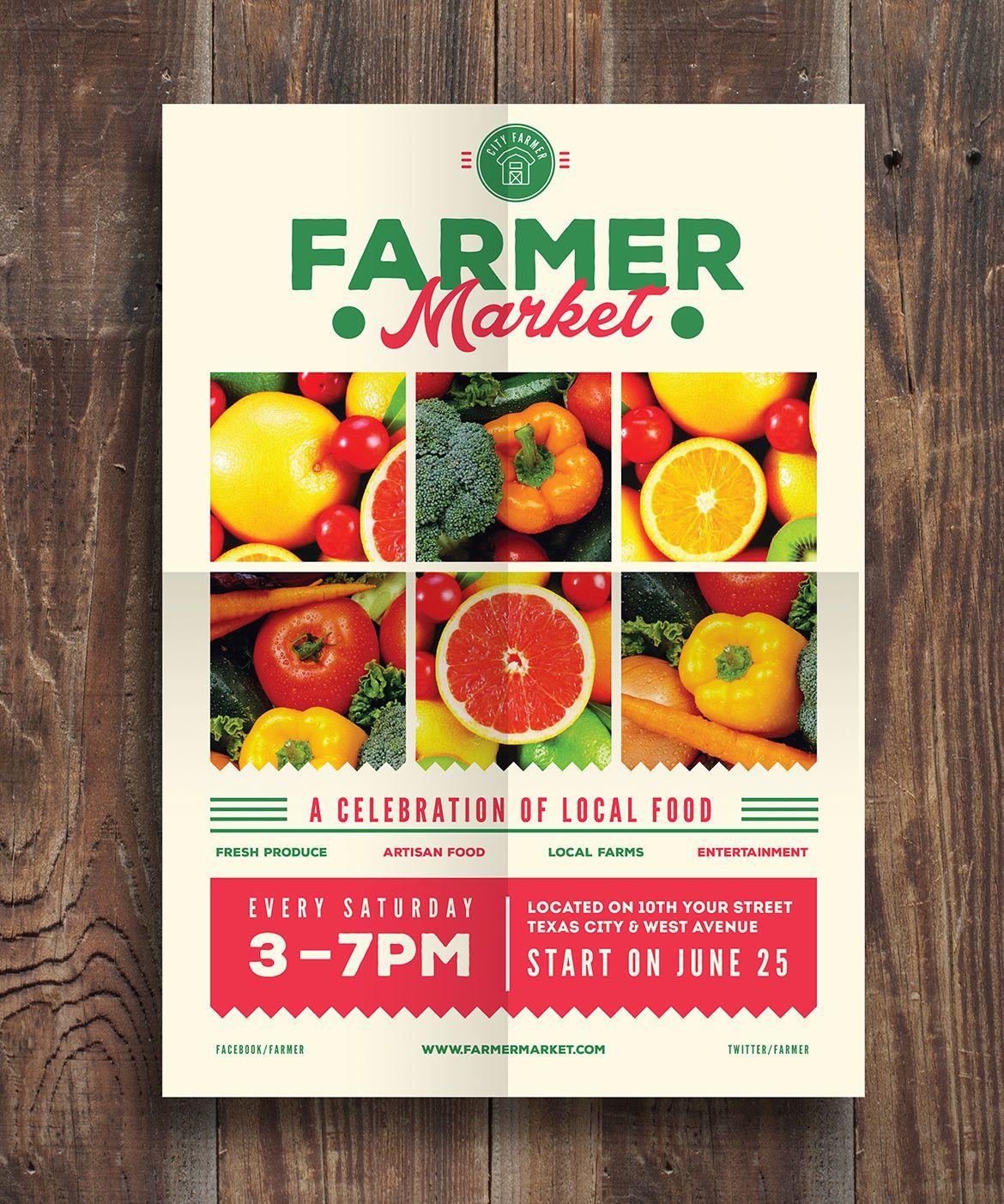 farmer market event flyer template ai psd nice ad farmer market event flyer template ai psd