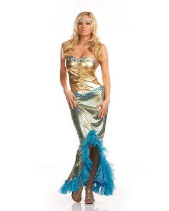 Dream Girl DG6393 SEA WORTHY MERMAID, X-Large Clothing - womens halloween ideas