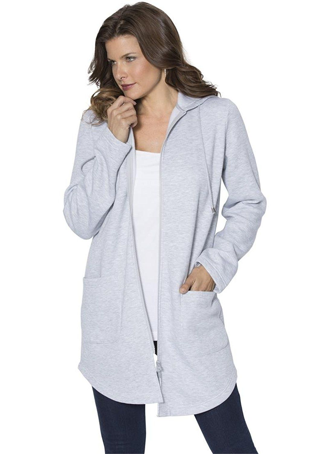 7cbad634513d2 Roamans Women s Plus Size Lightweight Fleece Jacket     This is an Amazon  Affiliate link. You can get additional details at the image link.