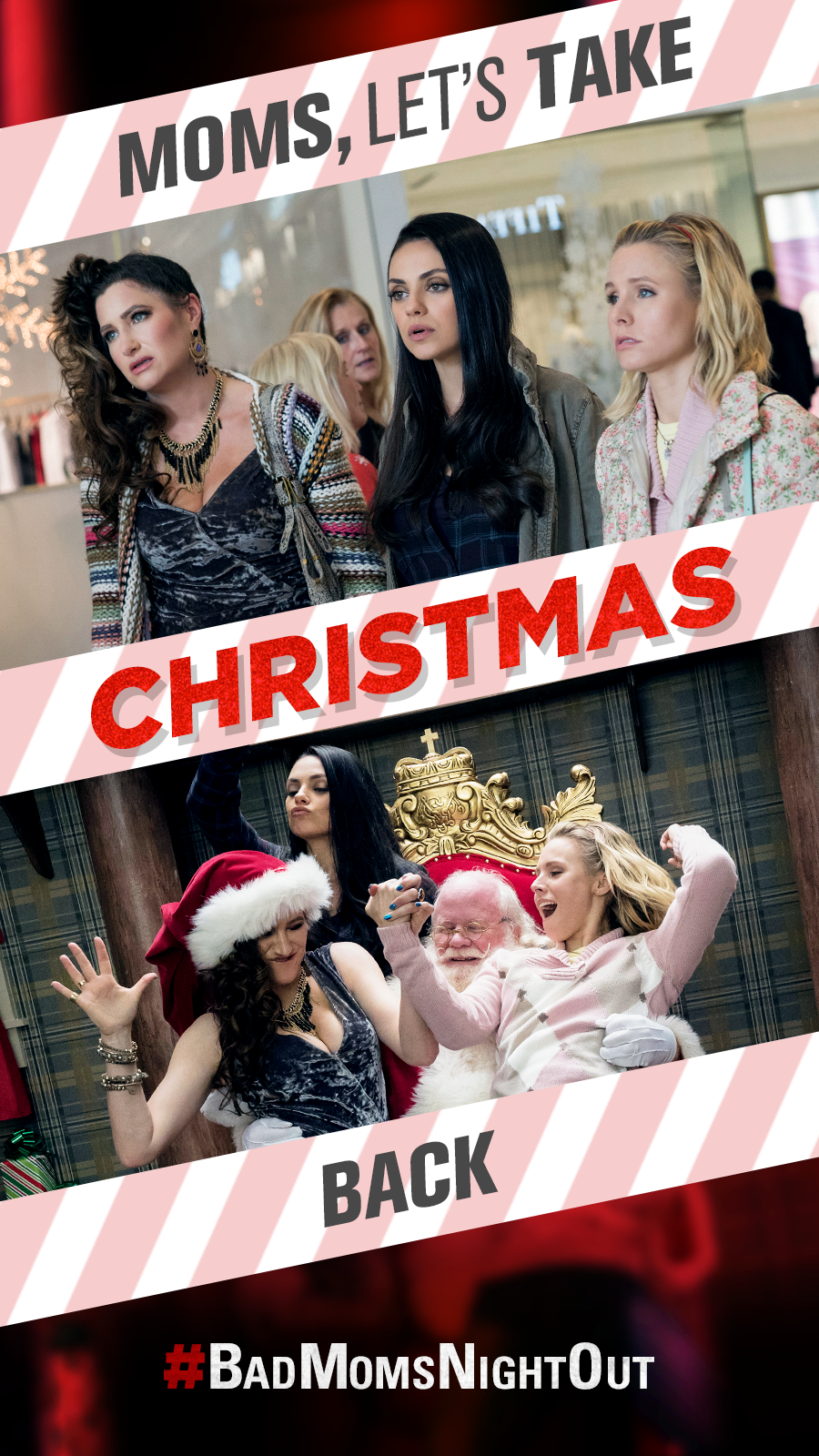 These Bad Moms Are Ready To Take Back Christmas Are You Badmomsnightout Click Visit To Get Tickets Now A Bad Moms Chr Mom Movies Bad Moms Christmas Mom