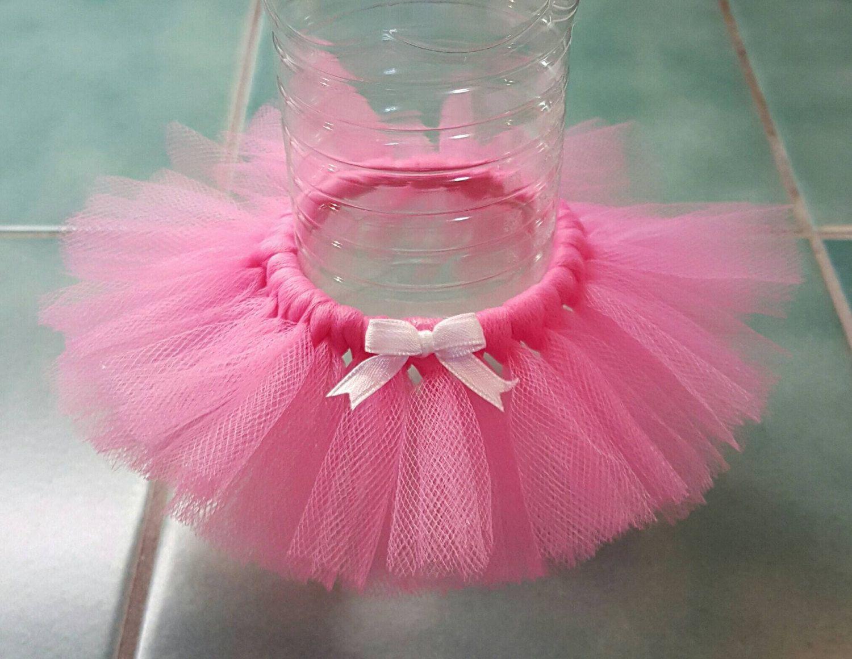 Bottle Tutu Favors   4 Shocking Pink   Tulle Skirt Tutu Decorations   Birthday Party,