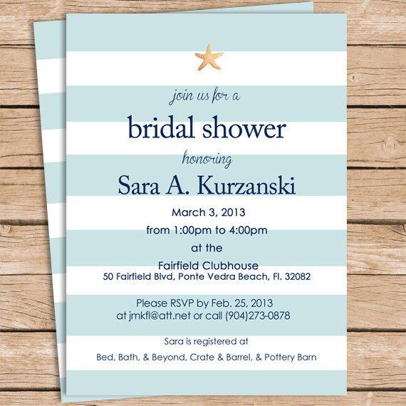 Beach bridal shower invitations beach bridal showers shower beach bridal shower invitations filmwisefo