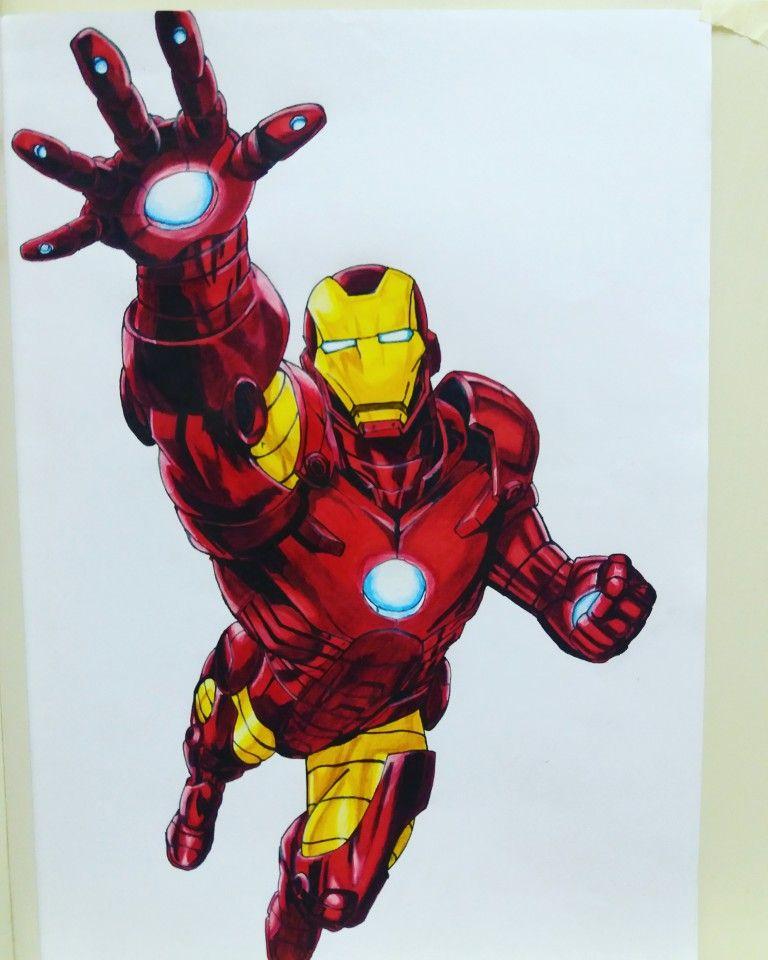 Iron Man Como Dibujar Marcadores Lapices