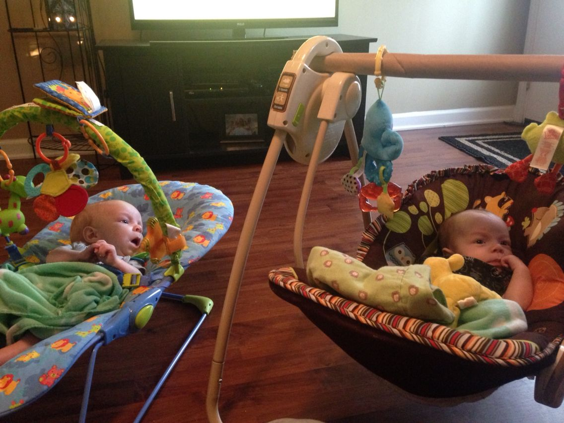 Had all sorts of toys and only one bouncer so used half of a ...