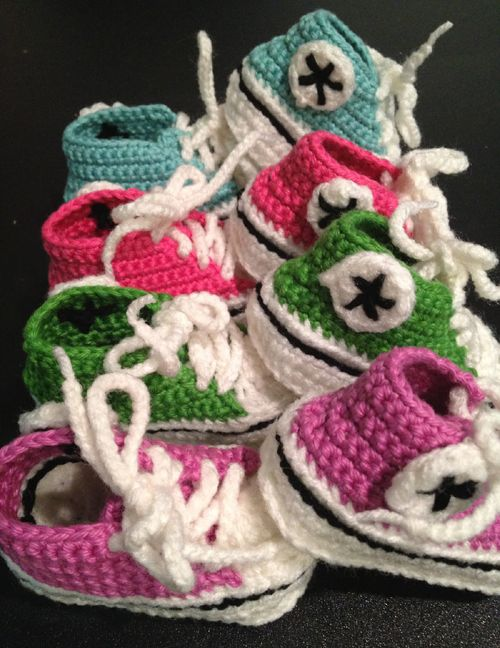 Crochet Baby Converse Free Pattern Crochet For Children