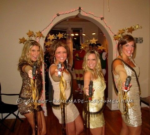 stunning shooting stars girl group costume - Stunning Halloween Costumes