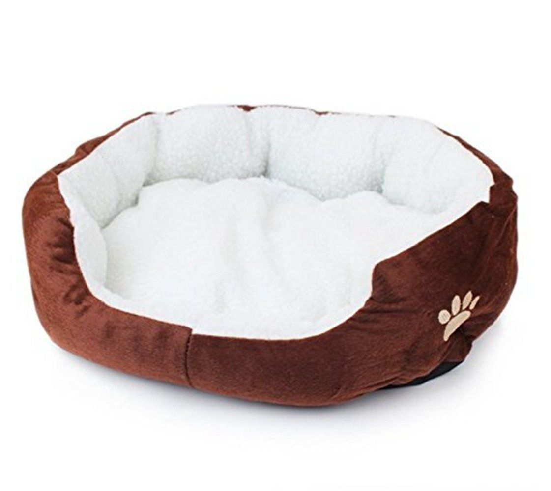 Tenchoe Pet Dog Warm Bed Puppy Cat Soft Fleece House Plush Cozy Nest Mat Pad Coffee See This Great Product Dog Beds For Small Dogs Dog Pet Beds Dog Sofa Bed
