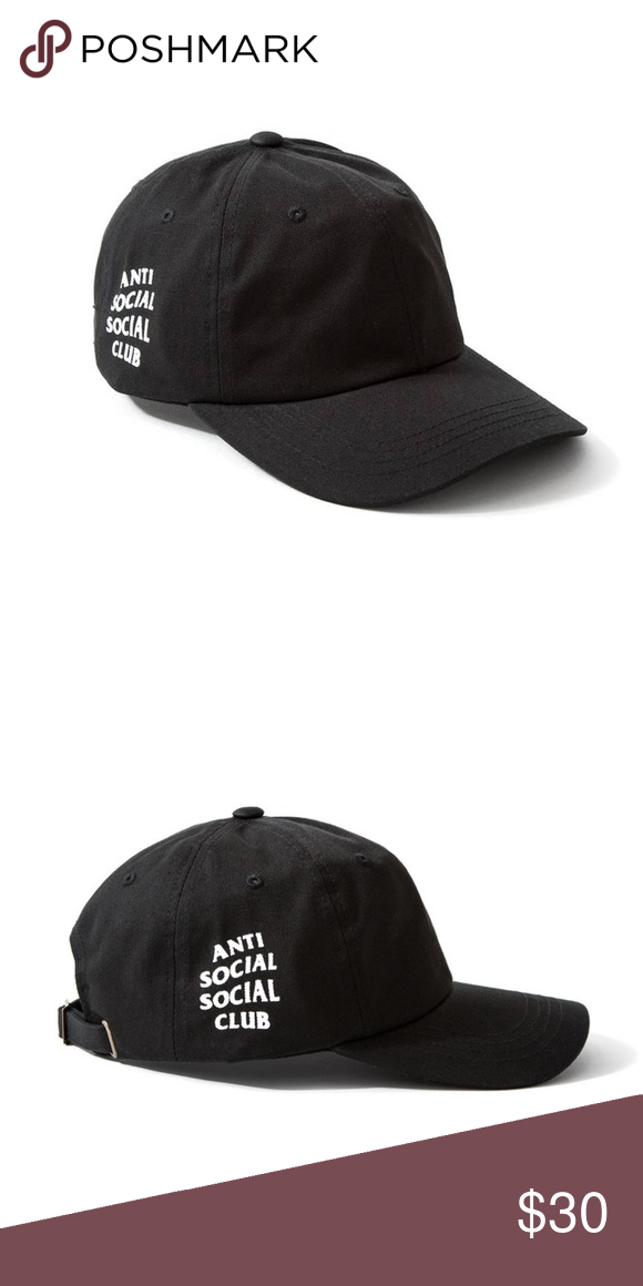 b5db21990fc Anti social social club weird cap ASSC weird cap in black. Shipped within  the same day. Anti Social Social Club Accessories Hats