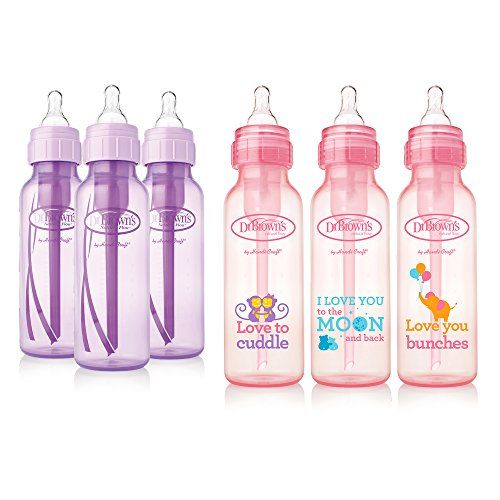 Dr 8 Ounce Brown/'s Original Bottle Gift Set Pink