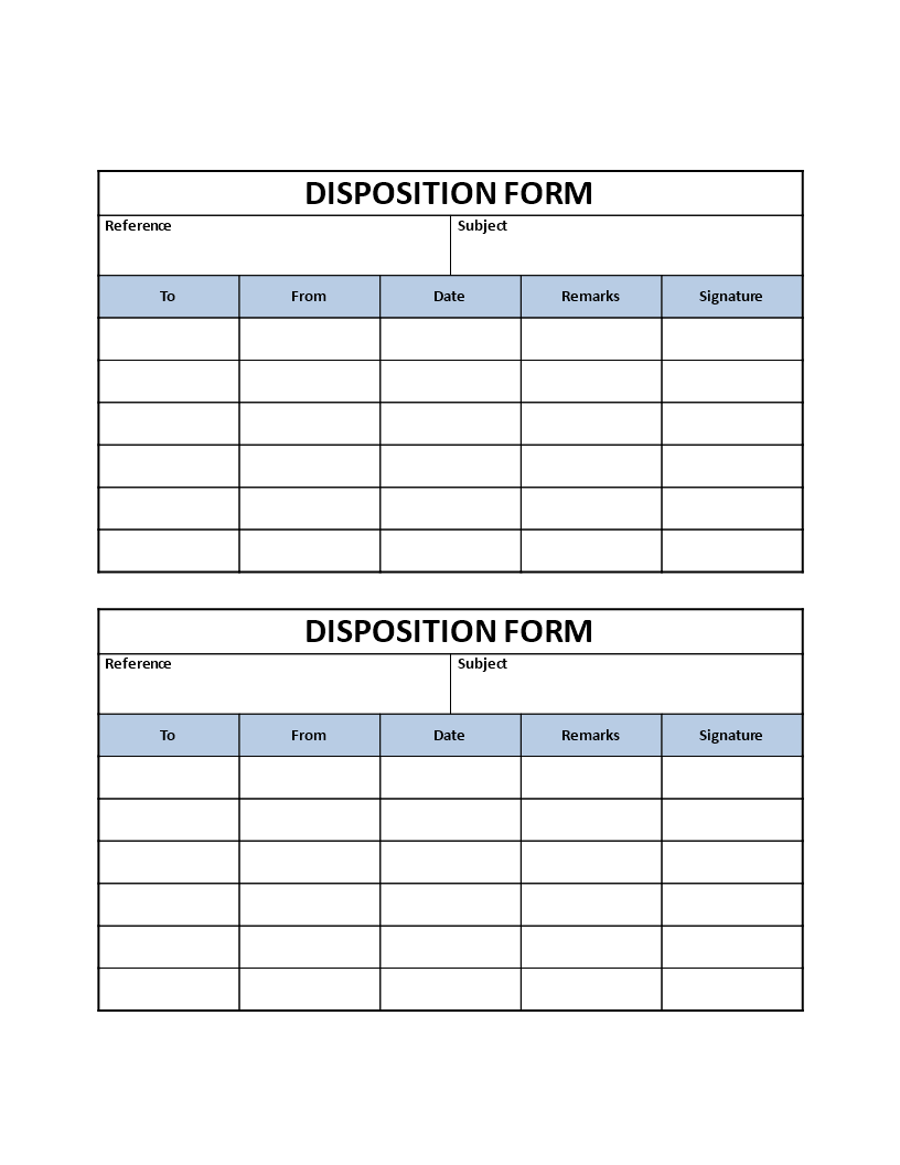 Disposition Form - Download this Disposition Form template that ...