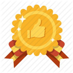 Golden Prize Gold Award Social Award Like Favorite Icon