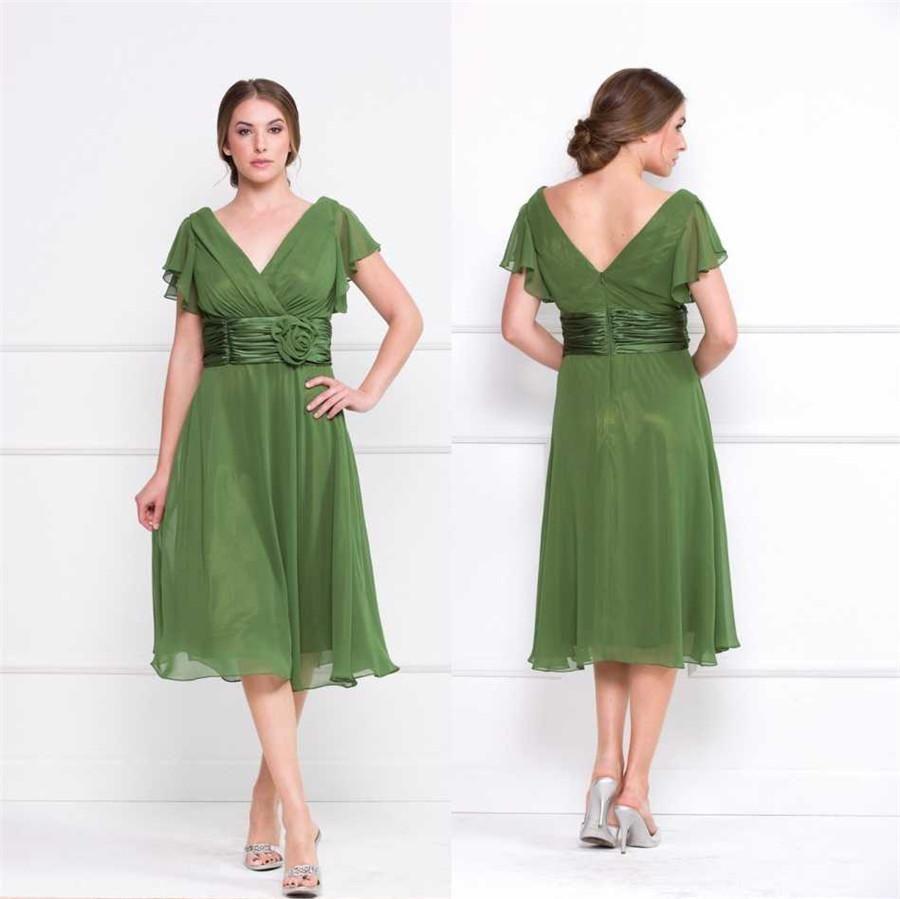 Of Dresses Groom Length the Mother Empire Waist Tea