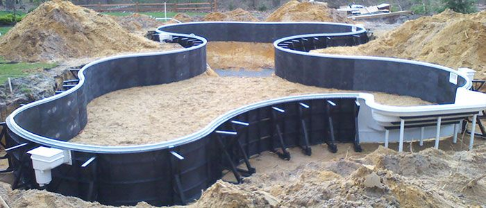 Nebula swimming pool kits are have an elegant lagoon pool kit shape and come in pool - Piscina cubierta linares ...