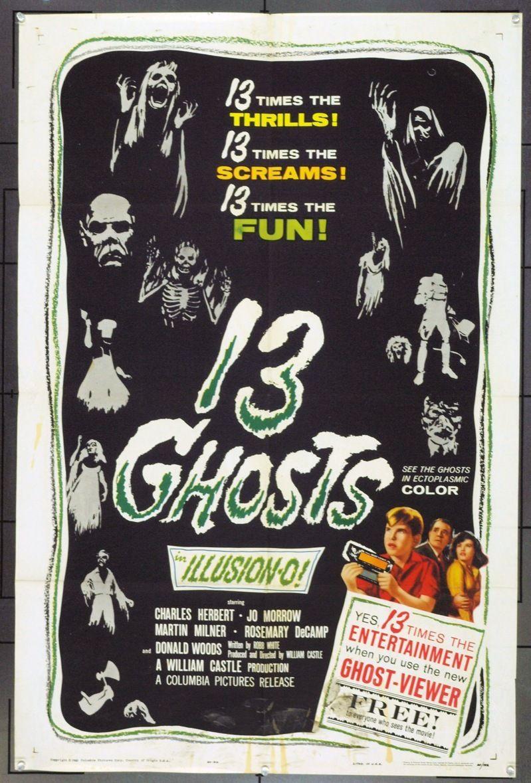 13 Ghosts 1960 3350 Ghost Movies Horror Movie Posters Movie Posters Vintage