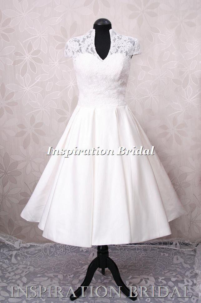 Tea Length Wedding Dress Inspired By Kate Middleton Rockabilly Dresses