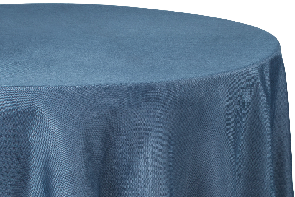 Faux Burlap Table Overlay Topper Tablecloth 90 Round Navy Blue