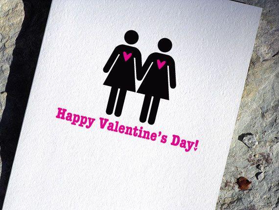 lesbian valentine card gay valentine's dayheartsgrowfonder | i, Ideas