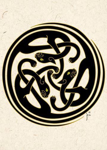 Cat Sidhe Celtic Knot By Jen Delyth