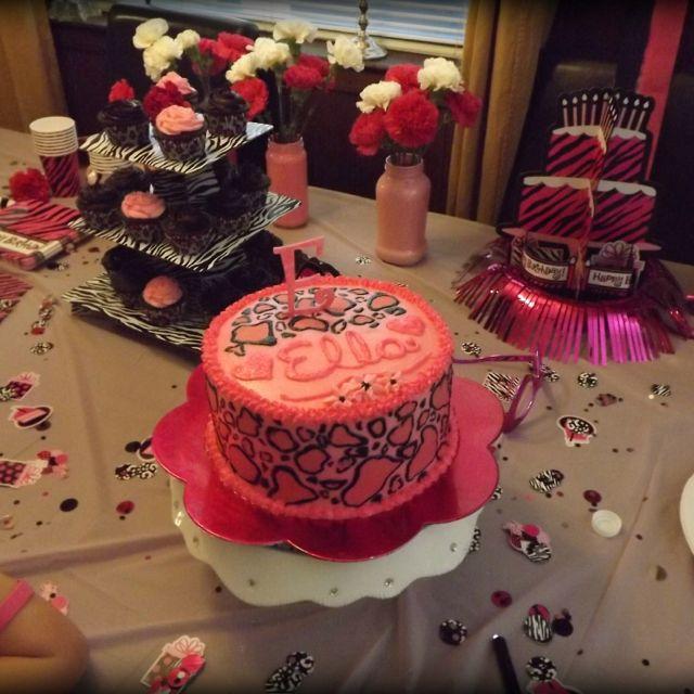 animal print birthday party baking pinterest