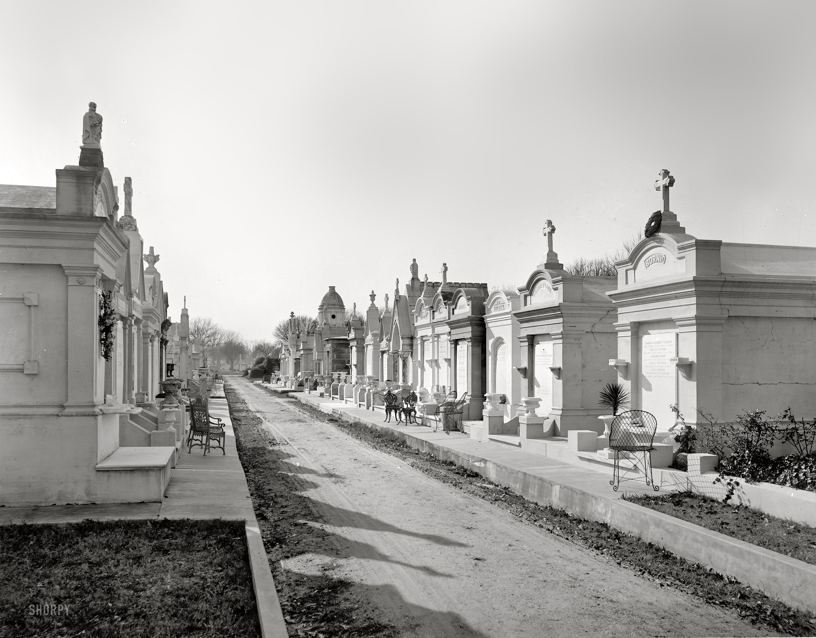 Circa 1895 metairie cemetery new orleans 8x10 inch for Metairie architects