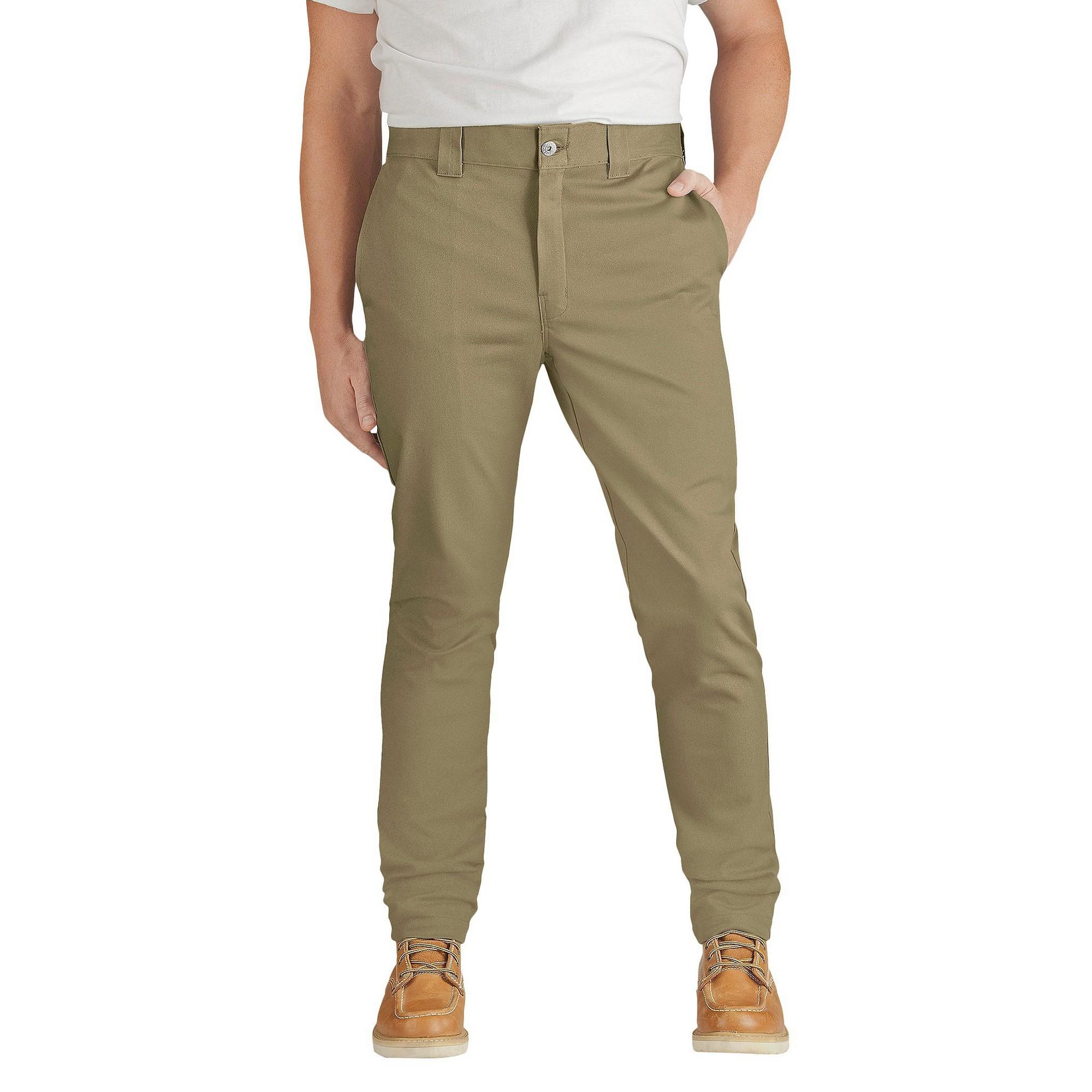 d8bb03c4 Dickies Men's Slim Skinny Fit Flex Twill Pants- British Tan 32x32 in ...