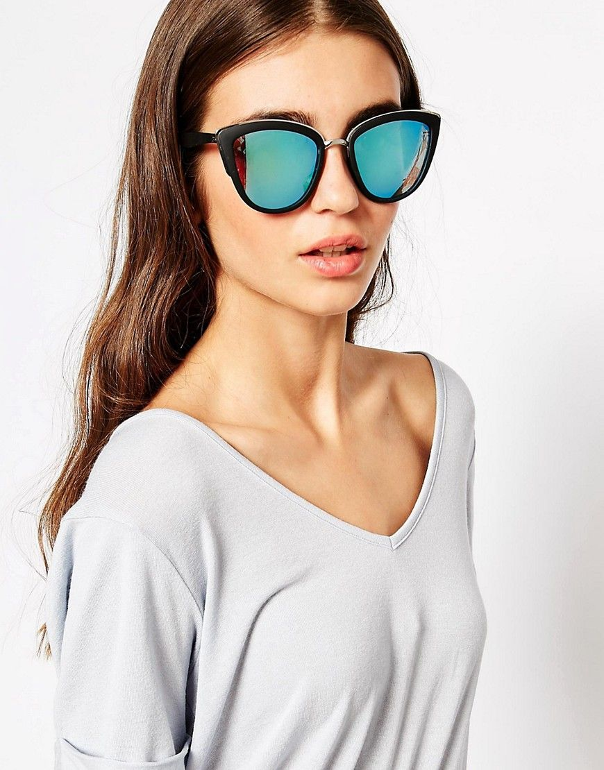 37c78b522a Image 3 of Quay Australia My Girl Mirror Cat Eye Sunglasses