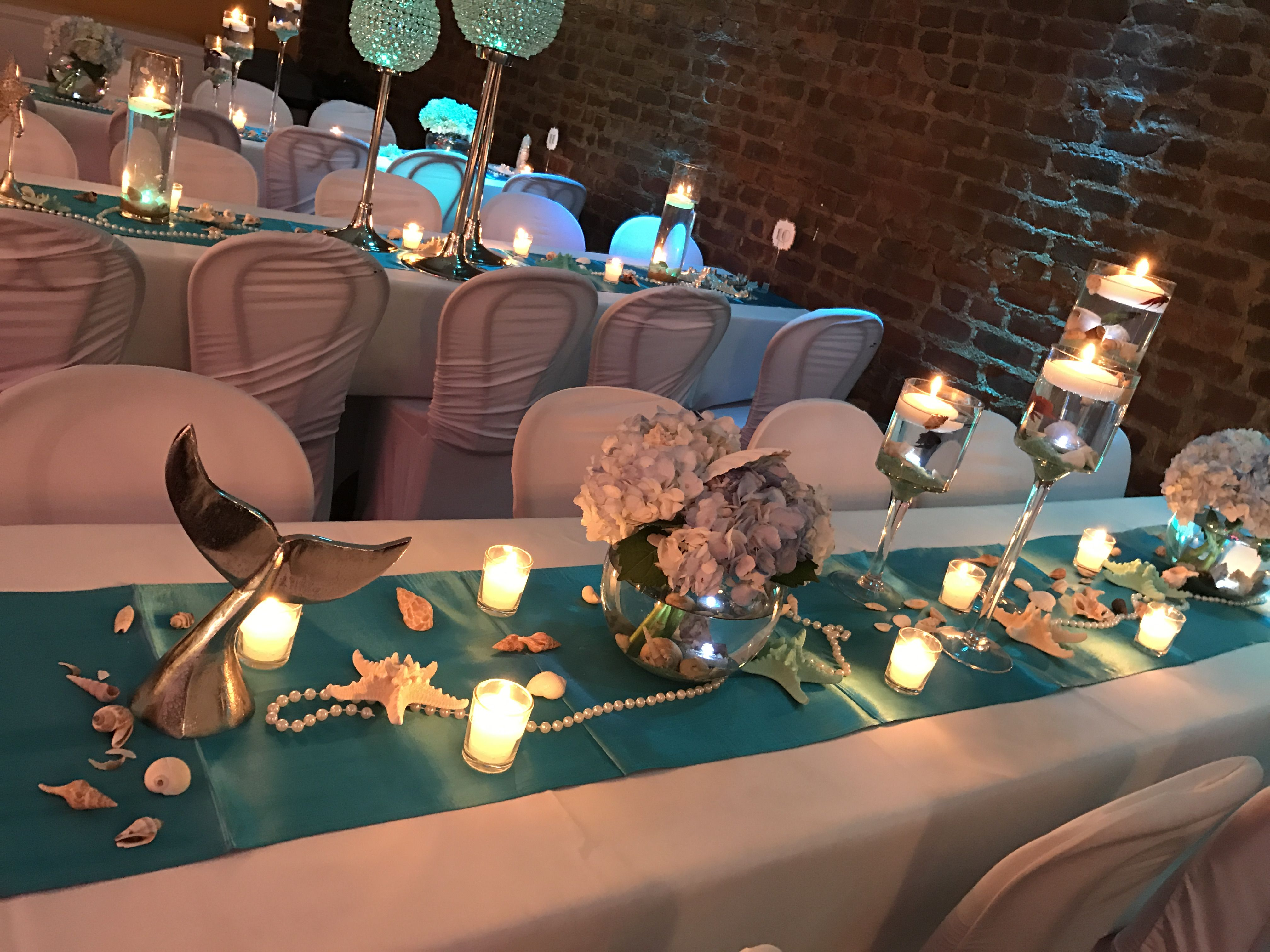 Elegant Under The Sea Themed Sweet16 Sweet 16 Decorations Sea