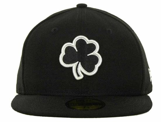 0a04ae03897 Black on White Notre Dame Fighting Irish 59Fifty Fitted Cap by NEW ERA x  NCAA