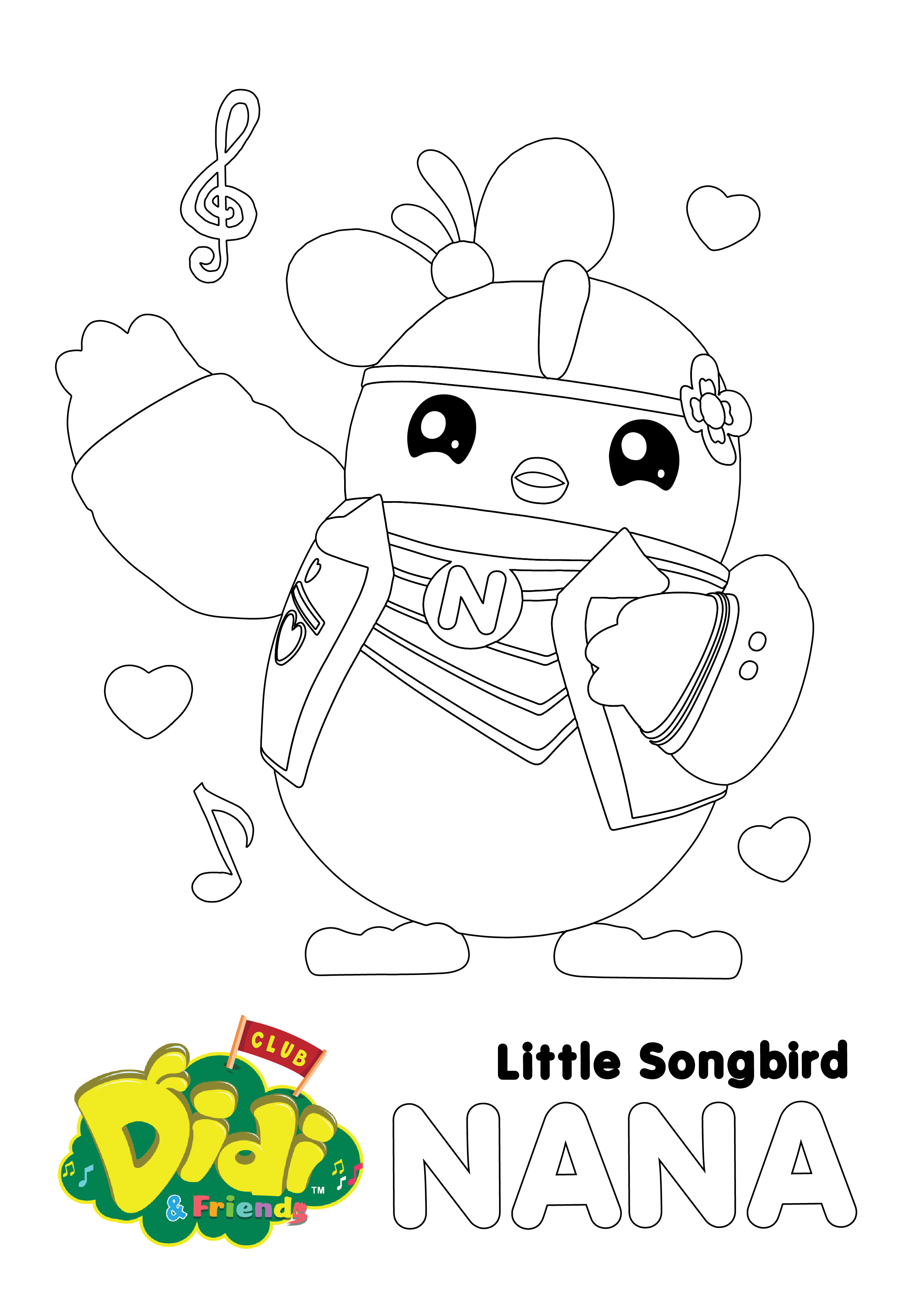 Download This Free Colouring Sheet Of Nana Click Here To