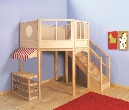 The Market Play Loft From Guidecraft Is The Perfect Way To Create Multiple Play Environments Within A Small Footprint Th Kids Bunk Beds Play Houses Guidecraft