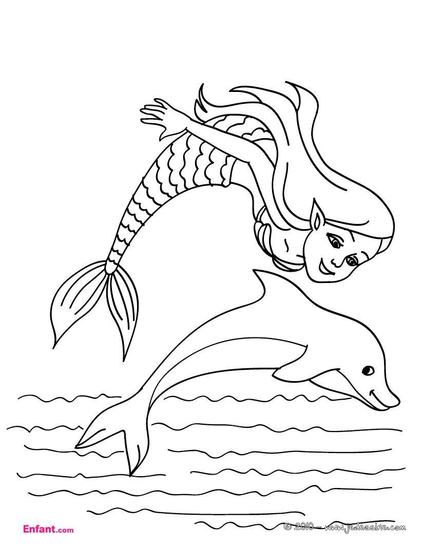 Coloriage sir ne colorier dessin imprimer coloriage pinterest coloriage sirene - Sirene a colorier et imprimer ...