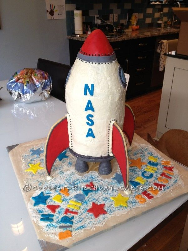 Peachy Old Fashioned Rocket Cake With Images Rocket Cake Rocket Ship Funny Birthday Cards Online Overcheapnameinfo